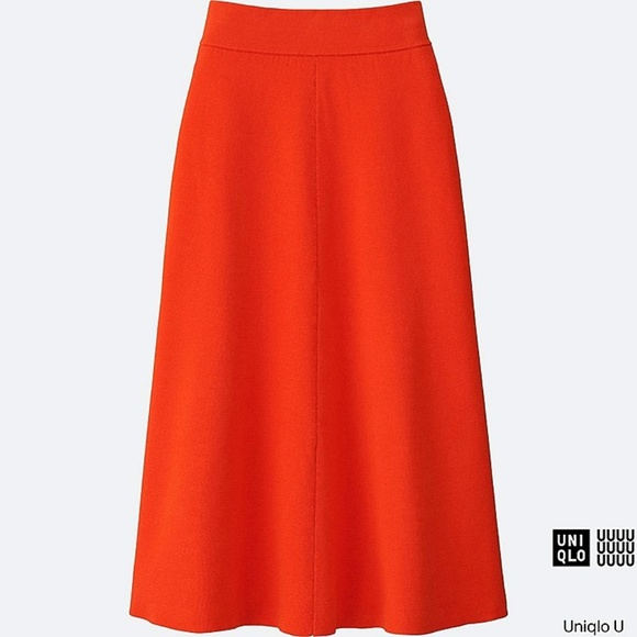 173a98c94e Uniqlo U Midi Ribbed Milano Knit A-Line Skirt. M_5a6b9628caab44ff16f4d749